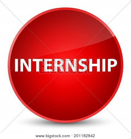 Internship Elegant Red Round Button