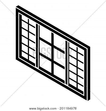 Wood window frame icon. Simple illustration of wood window frame vector icon for web