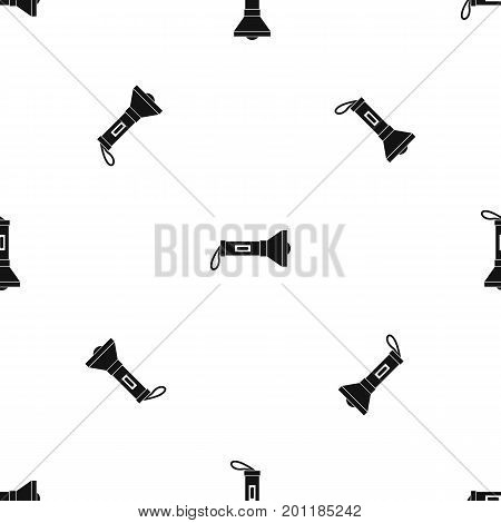 Lantern pattern repeat seamless in black color for any design. Vector geometric illustration