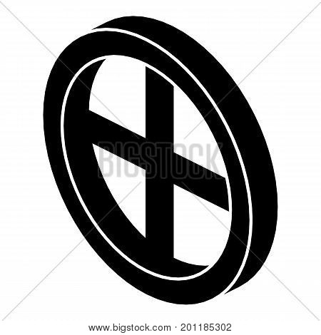 Roof window frame icon. Simple illustration of roof window frame vector icon for web