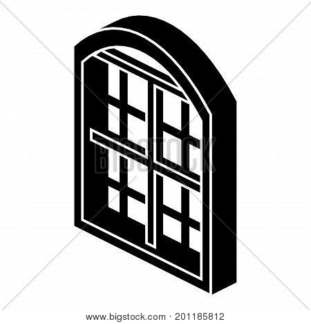Restaurant window frame icon. Simple illustration of restaurant window frame vector icon for web