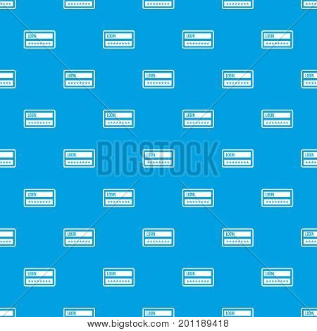 Login and password pattern repeat seamless in blue color for any design. Vector geometric illustration