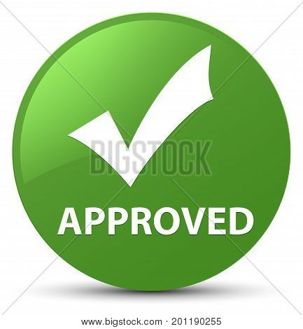 Approved (validate Icon) Soft Green Round Button