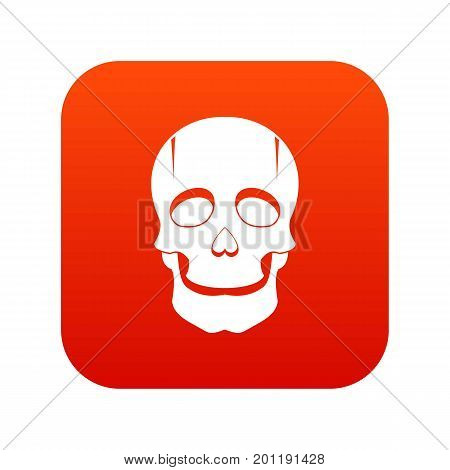 Singer mask icon digital red for any design isolated on white vector illustration