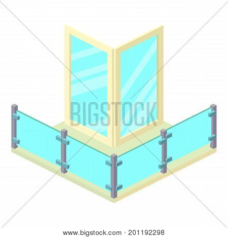Penthouse balcony icon. Isometric illustration of penthouse balcony vector icon for web