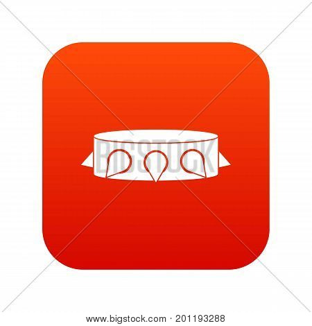 Rock collar icon digital red for any design isolated on white vector illustration
