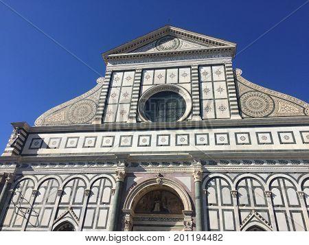 Santa Maria Novella catholic church in Florence, Italy