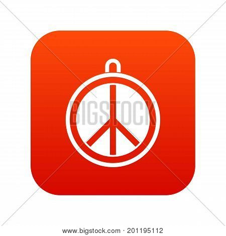 Rock sign icon digital red for any design isolated on white vector illustration