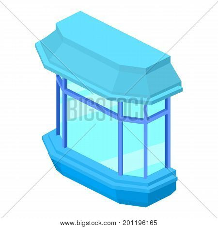 Modern balcony icon. Isometric illustration of modern balcony vector icon for web