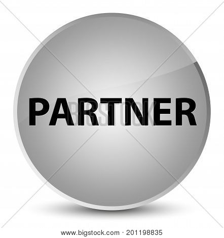 Partner Elegant White Round Button