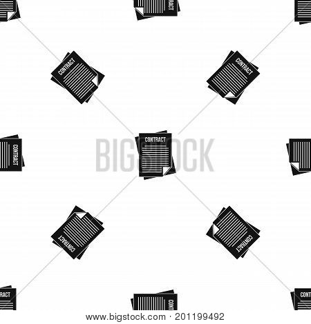 Contract pattern repeat seamless in black color for any design. Vector geometric illustration