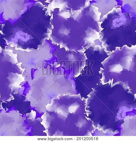 Deep Purple Seamless Watercolor Texture Background. Comely Abstract Deep Purple Seamless Watercolor