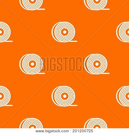 Abs or pla filament coil pattern repeat seamless in orange color for any design. Vector geometric illustration