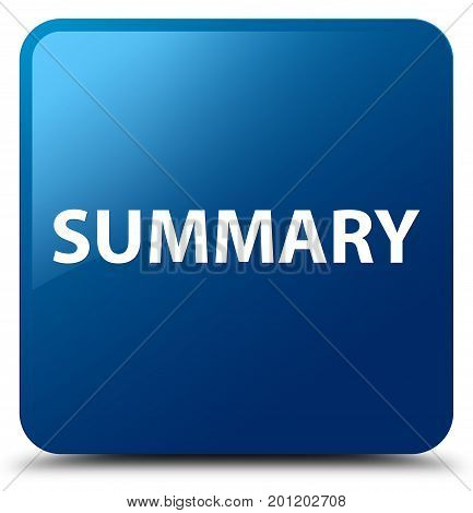 Summary Blue Square Button