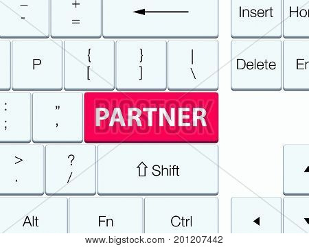 Partner Pink Keyboard Button