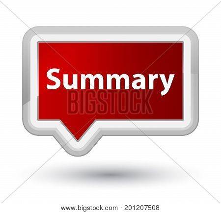 Summary Prime Red Banner Button