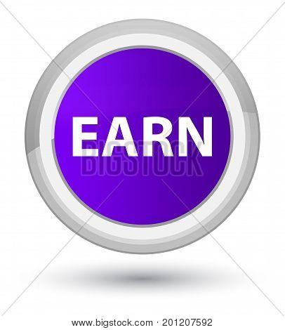 Earn Prime Purple Round Button