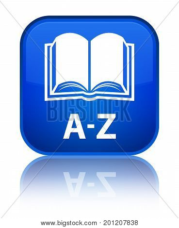 A-z (book Icon) Special Blue Square Button