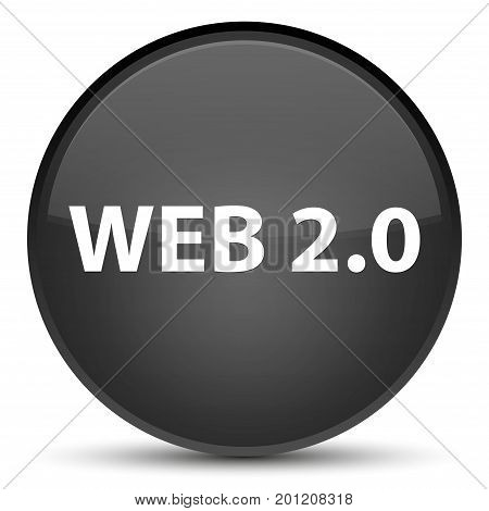 Web 2.0 Special Black Round Button
