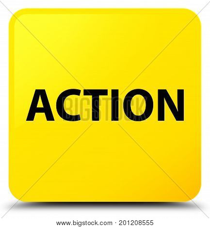 Action Yellow Square Button