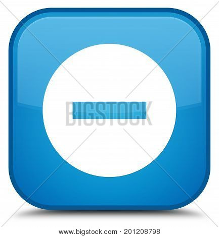Cancel Icon Special Cyan Blue Square Button