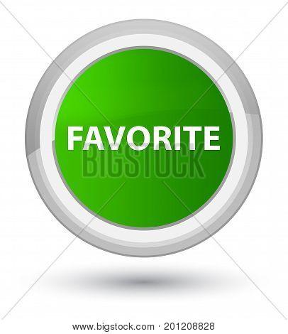 Favorite Prime Green Round Button