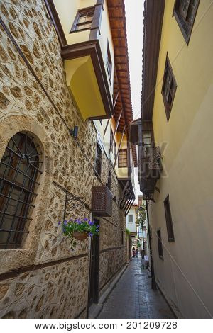 Ancient Streets Of The Old City Of Antalya