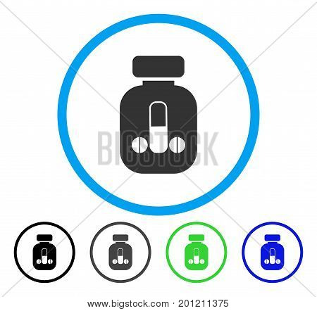 Male Medicine rounded icon. Vector illustration style is a flat iconic symbol inside a circle, black, grey, blue, green versions. Designed for web and software interfaces.