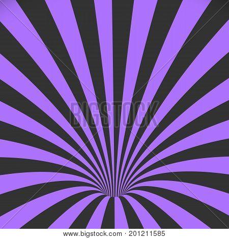 Illustration of Vector Spiral Tunnel Illusion. Vortex Motion Striped Tunnel Background