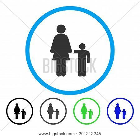 Mother Son Rounded Icon Vector Vector Photo Bigstock