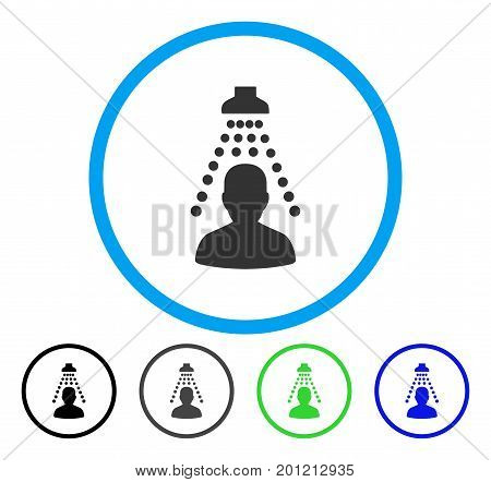 Patient Disinfection rounded icon. Vector illustration style is a flat iconic symbol inside a circle, black, grey, blue, green versions. Designed for web and software interfaces.