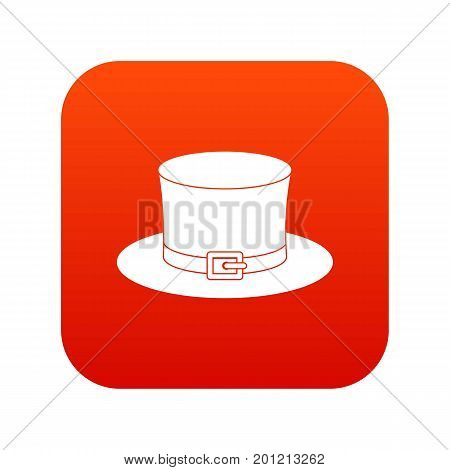 Leprechaun hat icon digital red for any design isolated on white vector illustration