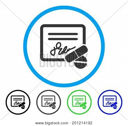 Receipt rounded icon. Vector illustration style is a flat iconic symbol inside a circle, black, gray, blue, green versions. Designed for web and software interfaces.