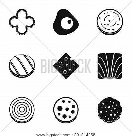 Eco slice product icon set. Simple set of 9 eco slice product vector icons for web isolated on white background