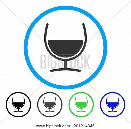Remedy Glass rounded icon. Vector illustration style is a flat iconic symbol inside a circle, black, grey, blue, green versions. Designed for web and software interfaces.