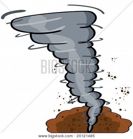 Tornado dos desenhos animados