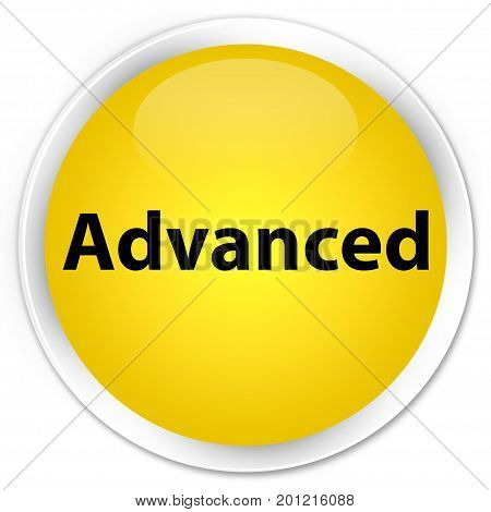 Advanced Premium Yellow Round Button