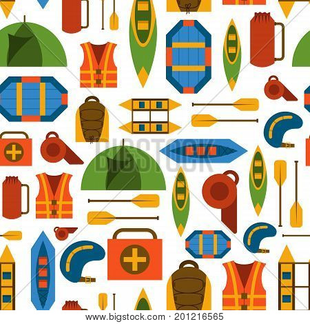 Vector Flat Rafting Background