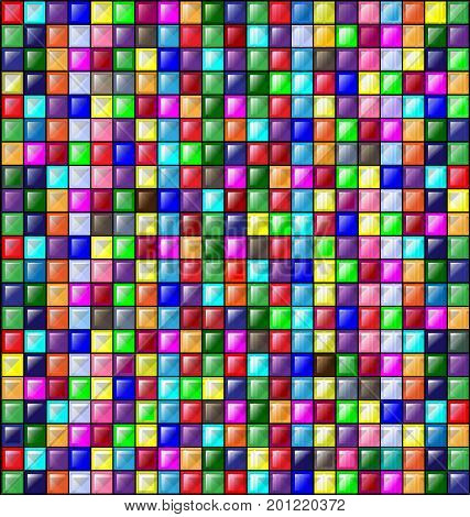 abstract colored background image consisting of lines and glossy blocks
