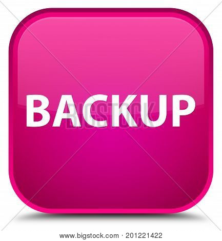 Backup Special Pink Square Button