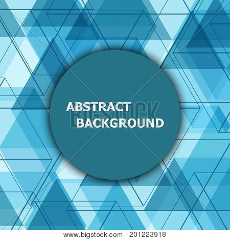 Abstract background with blue hexagon template, stock vector