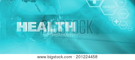 Medical health treatment banner Suitable for Healthcare and Medical News Topic