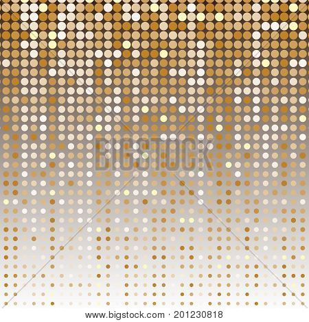 Gold dot halftone abstract background stock vector