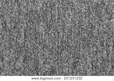Black white and gray synthetic wool cloth pattern