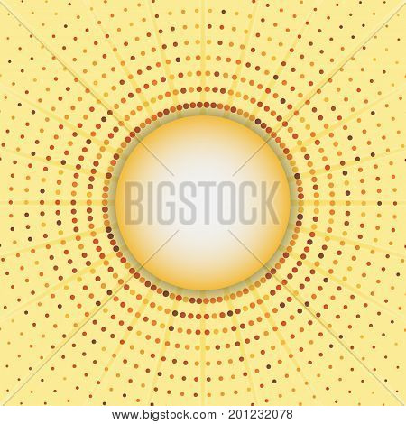 Circles halftone frame abstract background stock vector