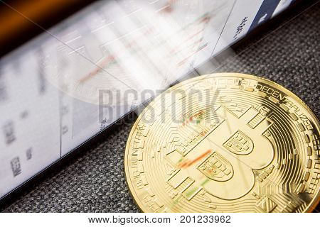 light shining bright on bitcoin digital currency