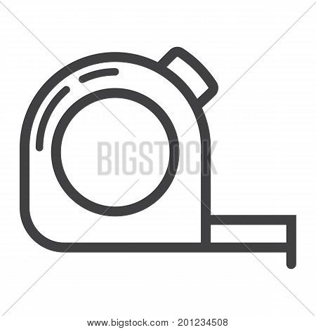 Tape measure line icon, build and repair, construction roulette sign vector graphics, a linear pattern on a white background, eps 10.