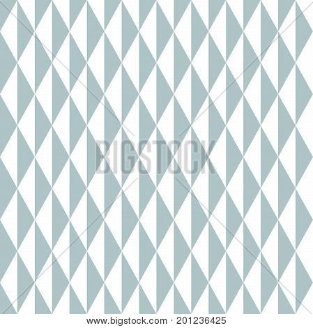 Geometric vector pattern with blue and white triangles. Geometric modern ornament. Seamless abstract background