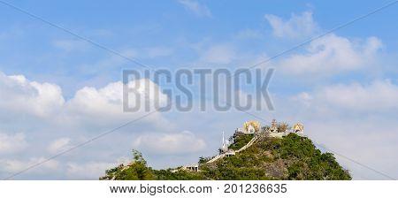 Khao Takiab Temple Of Khao Takiab Mountain Also Known As Monkey Mountain Or Chopstick Mountain , Hua