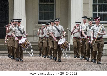 London, the UK - May 2016: Your majesty guards at Whitehall